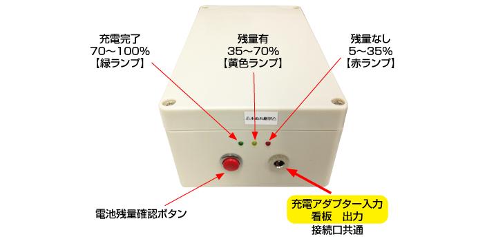 バッテリー使用方法