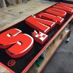 カルプ文字看板の製作