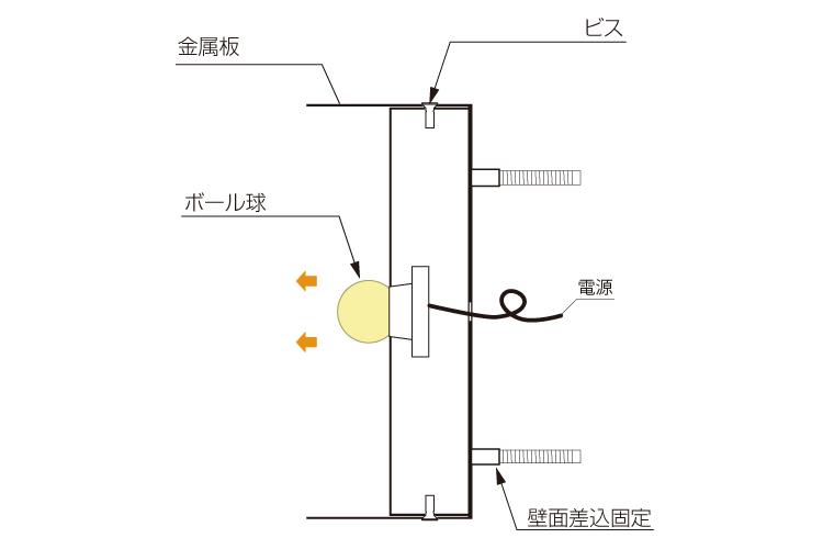 電球発光断面図