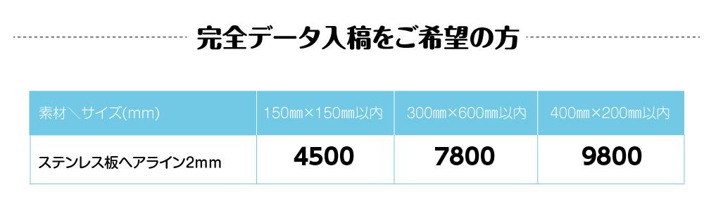 UV印刷加工ステンレスヘアラインプレート看板